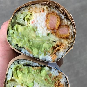 Crispy Spam N' Eggs Breakfast Burrito [Sesame]